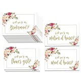 Impressions Soft flowers wedding party proposal notes (White)
