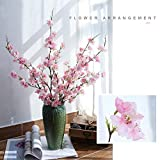 YIBELAAT Cherry Blossom Artificial Flowers,4pcs