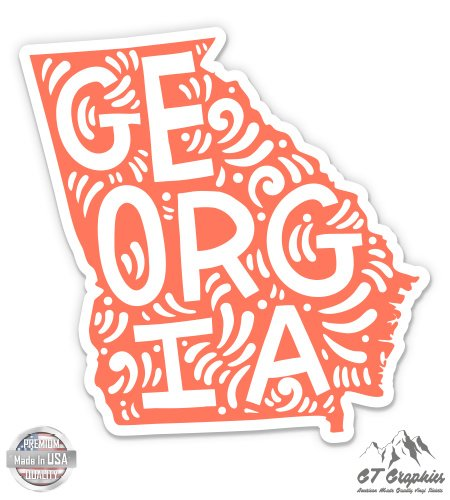 Georgia Shape Cute Letters Native Local - 5