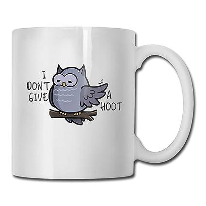 Amazoncom Xhx I Dont Give A Hoot Owl Puns 11 Oz White Ceramic
