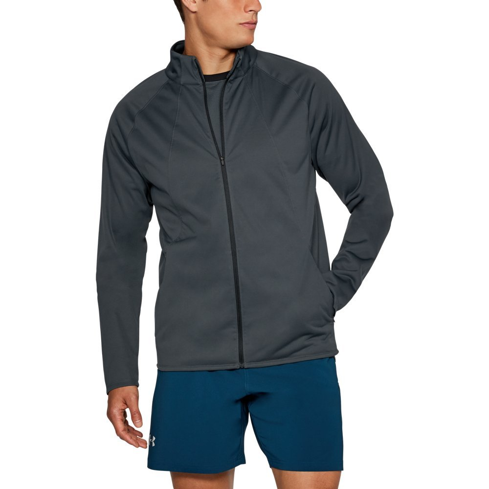Under Armour Men's Storm ColdGear Reactor PickUpThePace Jacket,Stealth Gray (008)/Reflective, Small