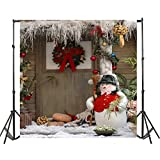 Christmas Snowman Photography Backdrops 5×7ft HD Vinyl Background Paper Photo Studio Props No Creases
