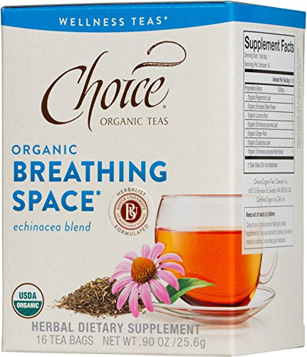 Choice Organic Teas Wellness Tea, Breathing Space, 16 Count