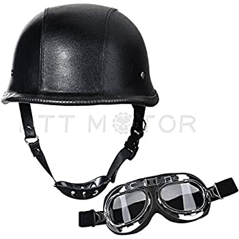 Amazon.com: Loyasun Helmet Cool Skull Open Face Half ...