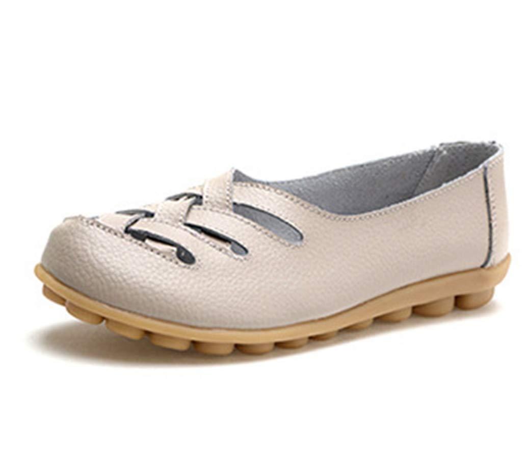 York Zhu Women Loafers Shoes, Ballet Flat Womens Walking Casual Leather Shoes