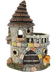 Jones Home and Gift - Casa de hadas para jardines de hada - castillo de hadas con balcon