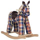 Rockin' Rider Checkers Vintage Rocking Horse Plush