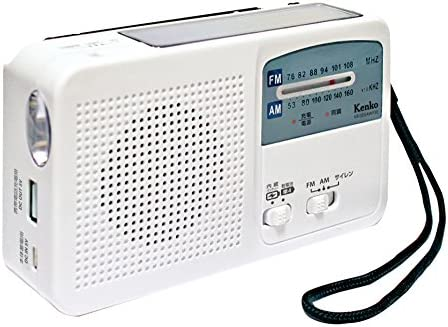 Kenko 라디오 다기능 방재 라디오 KR-005AWESE FMAM와이드 FM 대응 배터리 운영 사이렌을 갖춘 USB 충전 기능 / Kenko Radio Multifunction Disaster Prevention Radio KR-005AWESE FMAMWide FM For Dry Batteries USB Charging Function with Siren