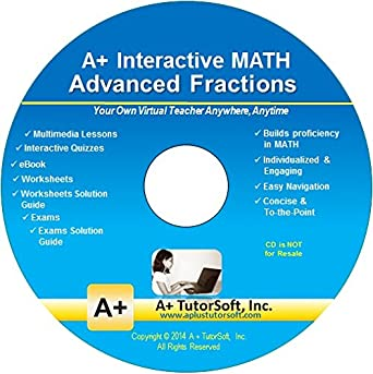 Amazon.com: Advanced Fractions - Teaching Software on CD (Grades ...