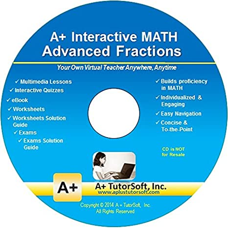 Amazon.com: Advanced Fractions - Teaching Software on CD (Grades ...
