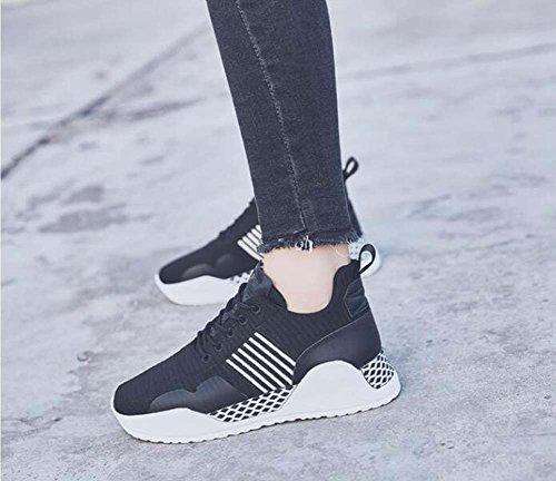 40 Corsa da Bianche da Sneakers Leggere 35 comode Corsa Donna Nere Casual MYI Scarpe da Scarpe Rosse Taglia xfTSSg