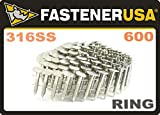 1'' Ring 316 Stainless Coil Roofing Nails 600ct MiniPak