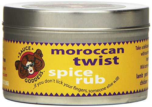 Sauce Goddess Moroccan Twist SPICE Rub, 1.75-Ounce Containers (Pack of 3) - Moroccan Rub