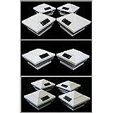 2-Pk White 4 X 4 Fence Post Cap Solar Lights 5 White (Default) LEDs_ASPC85W-2W12-416-4 sale 2017