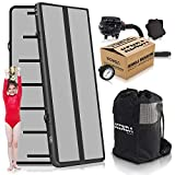 KENDA Air Track Tumbling Mat for Gymnastics – Professional Inflatable Airtrack Tumble Track – Electric Air Pump and Large Backpack – Ships from US