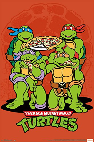 Trends International Teenage Mutant Ninja Turtles Pizza Wall Poster