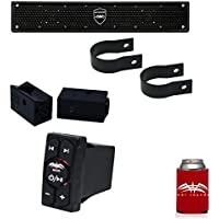 Wet Sounds Stealth 6 Surge Amplified Soundbar with 1.75 Pipe Mounting Hardware & WW-BTRS Bluetooth Receiver