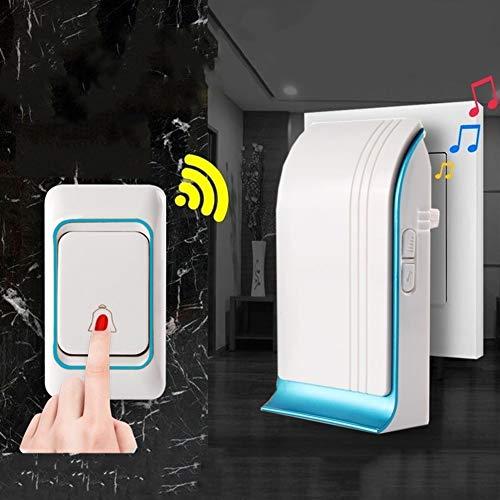 [해외]GWM Wireless Doorbell Long Distance Waterproof Smart Doorbell Doorbell Wireless Home Volume Adjustable Up to 85 Decibels Super Penetrating Power / GWM Wireless Doorbell, Long Distance Waterproof Smart Doorbell, Doorbell Wireless Ho...