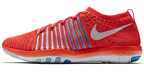 Bright NIKE Flyknit Free Trainers blue bluecap Focus Tint Breathable Womens Mesh Crimson White qqCTgr0