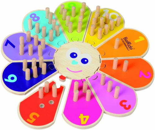 Boikido Eco-Friendly Wooden Flower Counting Game