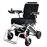 Foldawheel PW-999UL (2 batteries+2 yrs warranty+Free travel bag) Open/Fold in 1 second now. The lightest & most compact power chair in the world (only 43 lbs+3 lbs per Li-ion battery).