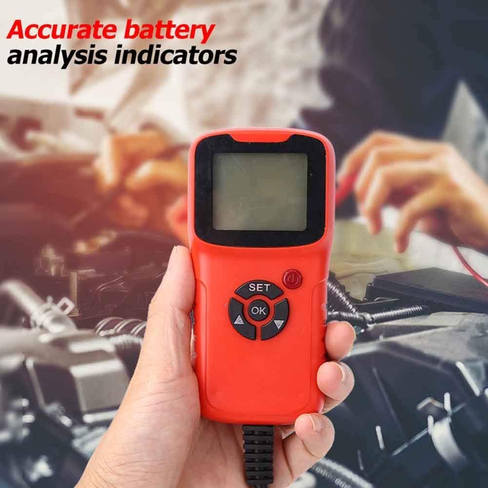 LED Display Voltage Resistance 100-1700 CCA Battery Load Tester Battery Condition Battery Analyzer CCA 12V Battery Tester