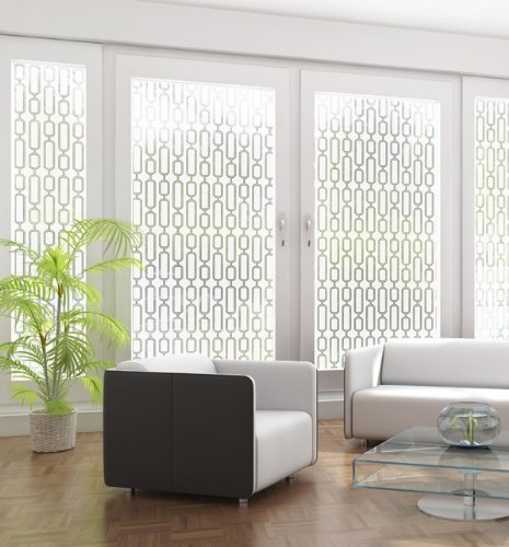 Avalon Etched Glass Frosted Static Cling Decorative Window Film 24