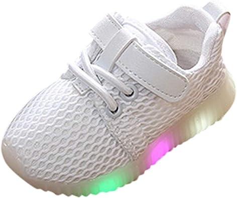 Zapatillas para Niños Niñas con Luces Deportivas Invierno PAOLIAN Zapatos de Deportes LED Niños Chicas Chicos Running Exterior Calzado Bebes Primeros Pasos Suela Dura Velcro 1-6 Años: Amazon.es: Zapatos y complementos