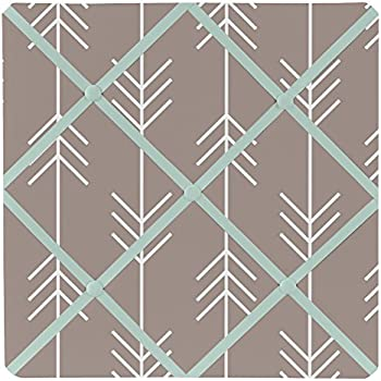 Sweet Jojo Designs Gray and Aqua Blue Outdoor Adventure Arrow Print Fabric Memory//Memo Photo Bulletin Board