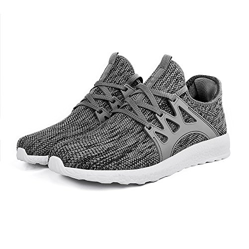 Lightweight Ultra Fashion white Athletic Casual Knitted Running Shoes Gray Walking Sneakers Womens Troadlop 7qtTxwBII