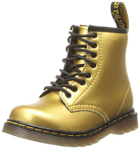 3bc9fb834be6 Dr. Martens Brooklee Boot (Toddler/Big Kid),Gold Alumix,9 - Import ...