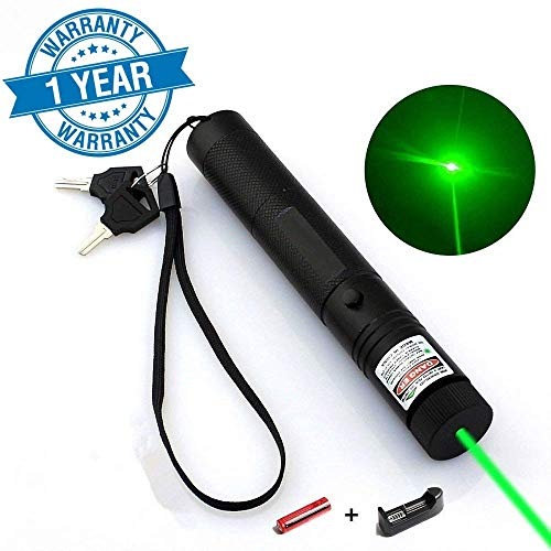 Jemine Tactical Green Hunting Rifle Scope Sight Laser Pen Demo Remote Pen Pointer Projector Travel Outdoor Flashlight LED Interactive Baton Funny Laser toy