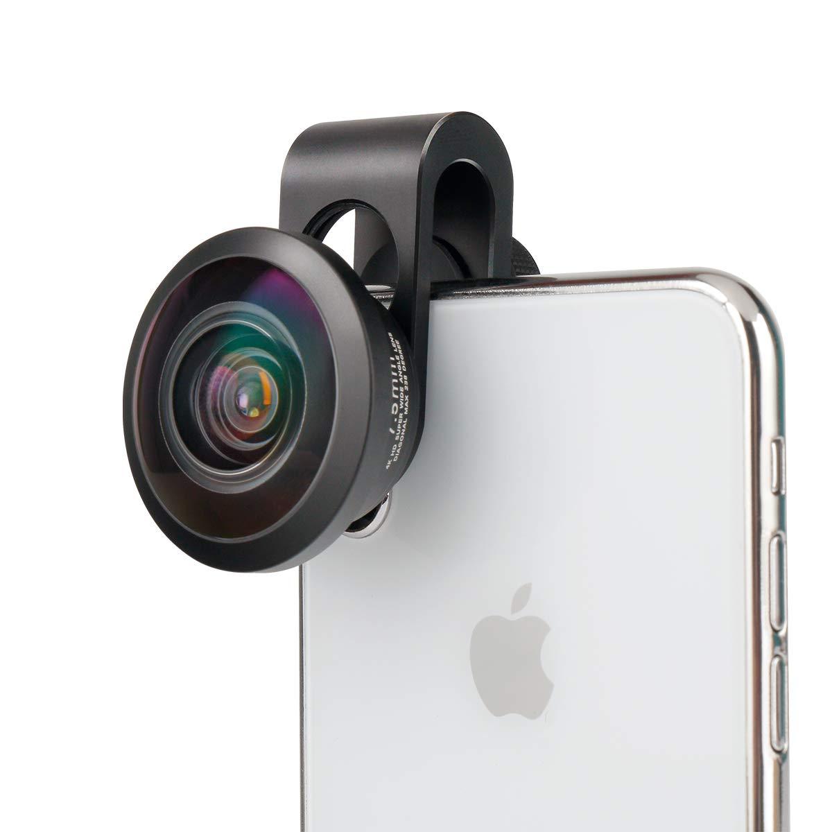 17mm Clip ULANZI Fischaugen Objektiv 238 /° Telefon Kamera Objektiv Universal f/ür iPhone 11 Pro Max X XR XS Max 8 7 6S Plus Samsung Galaxy S10 S9 Google Pixel OnePlus 7 Pro Android Handys