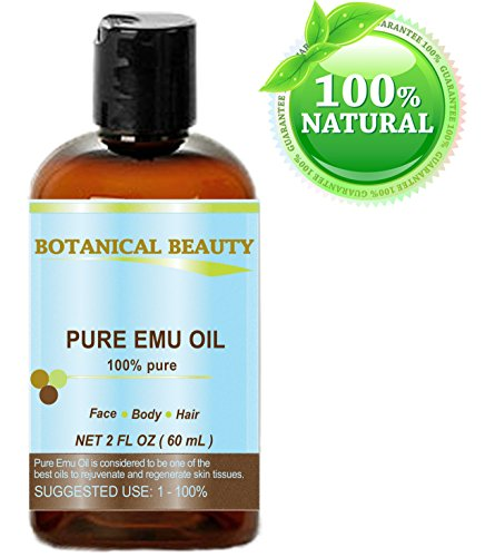 PURE EMU Oil, 100% Pure, 2 oz-60 ml. For Face, Hair, Body and Nails. Great...
