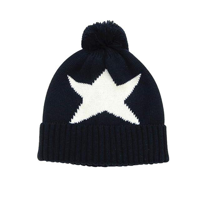 fangkuai-hat Sombrero de Punto Niños Invierno Exterior Estrella ...