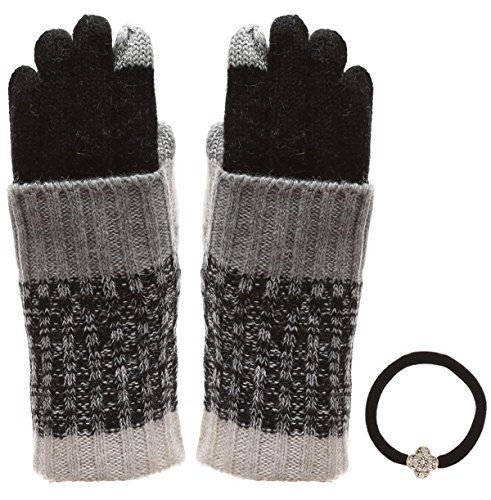 Women's Winter Touchscreen Wool Blend Soft Knitted Warm Gloves