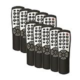 10-pack Brightstar® BR100B Universal TV Remote