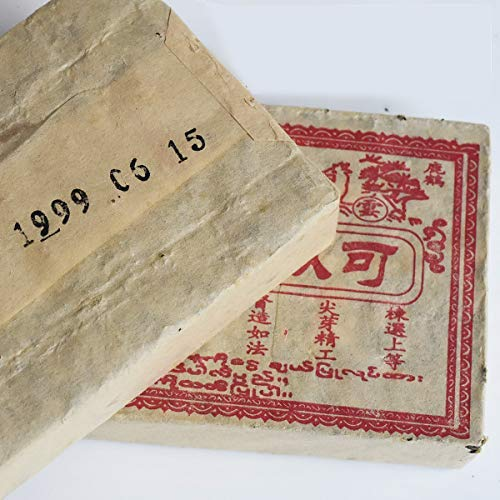 In 1999, [Xing Xing] The old name [old tea brick] Yunnan 19 years storage conversion back to Gan Xun Meng tea full13.4oz 2 pieces