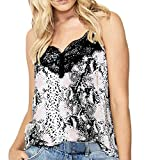 IAMUP Fashion Women Tank Top V-Neck Lace Up Snake Grain Printed Sleeveless Vest Summer Tank Top Tee Pink