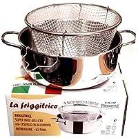 viscio Trading 165878Friteuse Inox C/Panier aluminium également induction, 24cm