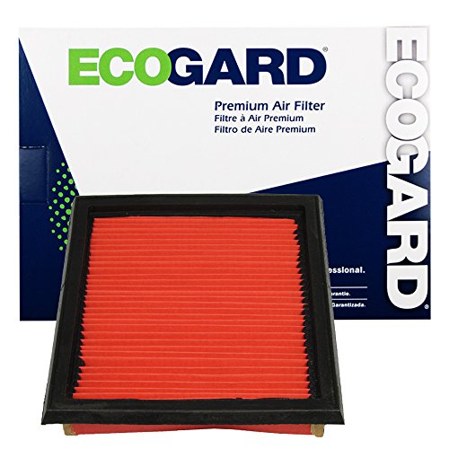ECOGARD XA5824 Premium Engine Air Filter Fits Infiniti G37, G35 / Nissan 370Z / Infiniti EX35 / Nissan 350Z / Infiniti QX50, G25, Q60, Q40, EX37 1 filter per box, needs 2 filters per application - Infiniti G37 Intake