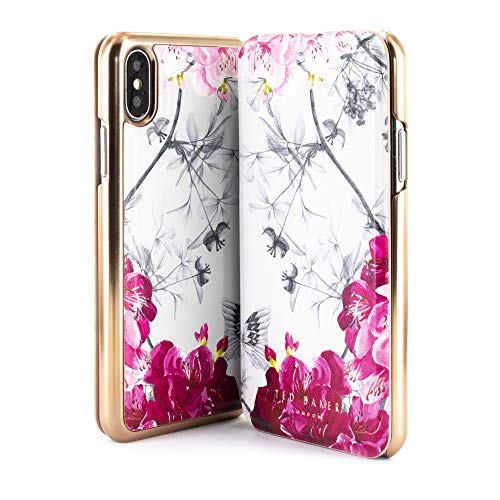 Ted Baker Babylon Nickel Mirror Folio Case for iPhone (X/XS)