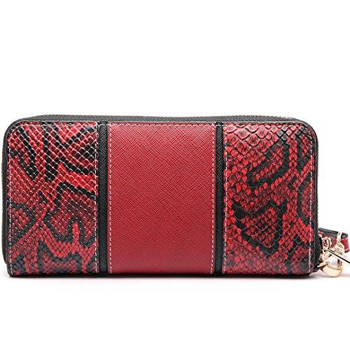 Red Miss Shape Women Purse Snake Print Satchel Tote Shoulder Bag Lulu V Handbag PBf1xrP