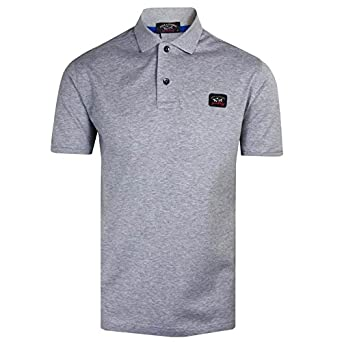Paul & Shark Polo camiseta para hombre gris Top gris gris Medium ...