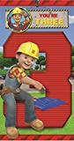 Bob The Builder 3rd Birthday Card And Badge