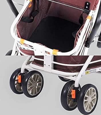 HGFLYF Ligera Andador Plegable de Aluminio con Frenos de ...