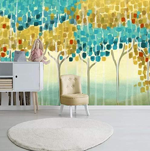 (Retro European high-end Modern Hand-Painted Abstract Rich Tree Walkway Porch Aisle Corridor Background Wallpaper, 250175cm)