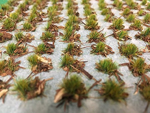 WWS Forest Ground Cover Summer 4mm Self Adhesive Static Grass Tufts x 100