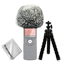 First2savvv Outdoor Portable Digital Recorders Furry Microphone Mic Windscreen Wind Muff for Zoom H1 -TM-DM-H1-E01TZ3