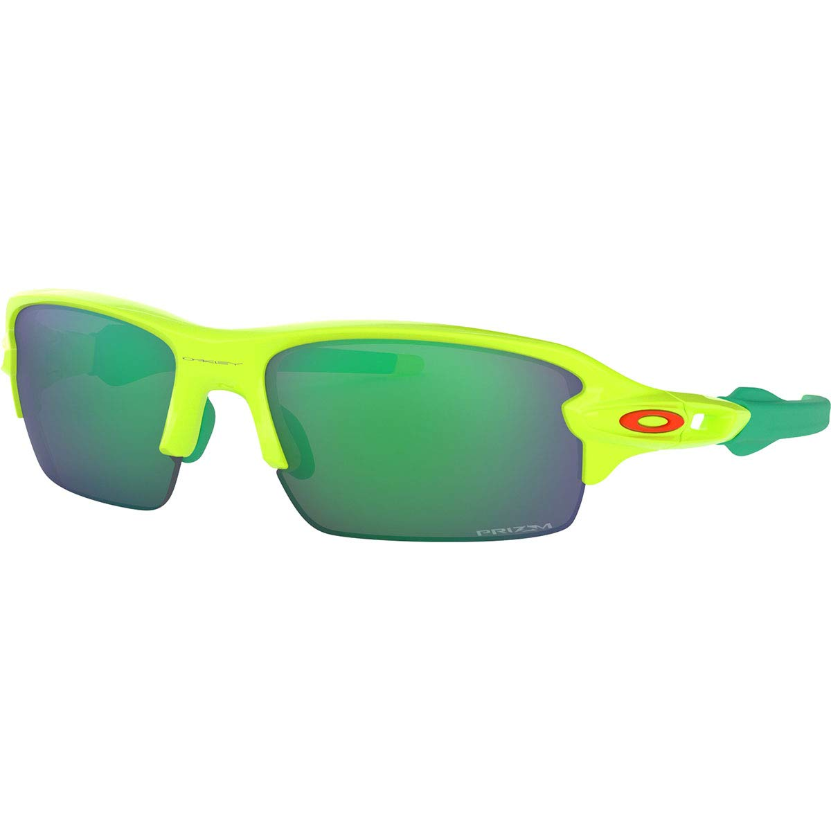 Oakley Boys OJ9005 Flak XS Rectangular Sunglasses, Retina Burn/Prizm Jade, 59 mm by Oakley